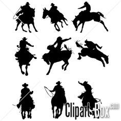 CLIPART COWBOYS RODEO