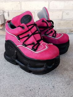 Pink Swear Alternative Air Platform Boots/Shoes Goth Industrial 37 Hardly Worn