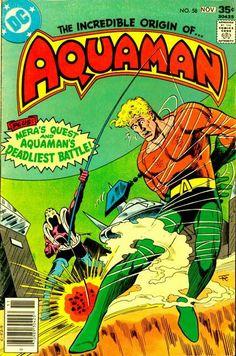 Aquaman (November - Cover by Jim Aparo and Tatjana Wood Dc Comic Books, Vintage Comic Books, Comic Book Artists, Vintage Comics, Comic Book Covers, Thor, Legion Of Superheroes, Old Comics, Classic Comics