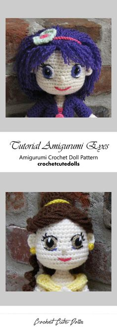 How to... Make Amigurumi Eyes with Yarn | Yeux crochet, Animaux d ... | 655x236