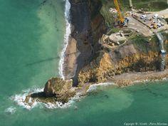 Photo aérienne de Pointe du Hoc - Calvados (14)