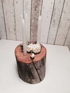 Driftwood candle stump