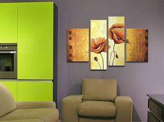 peintures à l'huile de fleurs