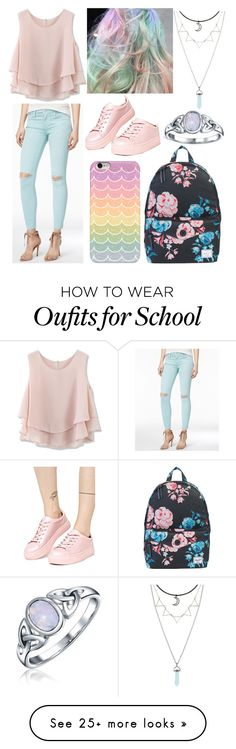 """""""Pretty Pastel"""" by noraturner on Polyvore featuring Herschel Supply Co., Samsung, Joe's Jeans, Chicwish, Madden Girl and Bling Jewelry"""