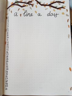 A line a day october bullet journal
