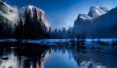 イエローストーン国立公園, ワイオミング州, 風景, 日の出, 日没