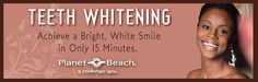 Everyone deserves a nice, bright smile and at Planet Beach Contempo Spas, you can have one in just 15 minutes. Our safe and convenient system features both teeth color correction and teeth whitening capability designed for superior teeth whitening.