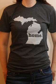 The Home T - Michigan Home T, $25 {How cute is this?!}