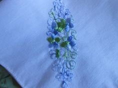 Vintage Embroidered Hanky by VintageBeckyM on Etsy, $7.00