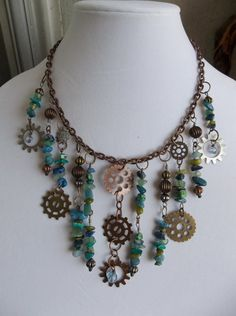 Steampunk Inspired Statement Necklace with by MarkalinoJewelry, $55.00