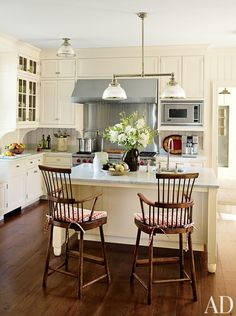 Traditional Kitchen by G. P. Schafer Architect in Dutchess County, New York ceiling semi flush mount lighting