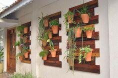 par exemple c'est un jardin sur le mur en bois de palette