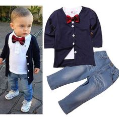 Formal Suit For Kids Gentleman 3 PCS Boys Party Wear Kids Clothes Sets Toddler Boys Clothing Baby Boy Autumn Clothes Toddler Boy Outfits, Toddler Fashion, Boy Fashion, Toddler Boys, Baby Boys, Kids Boys, Fashion Clothes, Fashion Dresses, Boys Party Wear