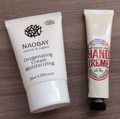 Glossybox Review – December 2013 Naobay Oxygenating Cream Moisturizing – 1.01 oz Value $26 Dr. Hunter's Hand Cream – .5 oz Value $2.80
