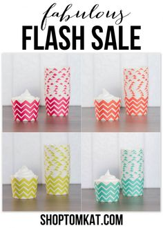 Chevron Baking/Candy Cups :: Fabulous Flash SALE at shoptomkat.com Hurry! While supplies last! http://shoptomkat.com/category_83/BakingTreat-Cups.htm