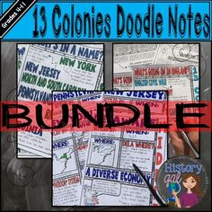 This includes all 6 of my 13 Colonies Doodle Note sets:*They are all available for individual purchase. Click on each set to learn more about them.1.Types of Colonies Doodle Notes2.How the 13 Colonies Got Their Names3.What's Going on in England? 1558-18204.New England Colonies Doodle Notes5.Middle Colonies Doodle Notes6.Southern Colonies Doodle Notes (these include Jamestown Doodle Notes)This zip file contains PDF files.Want to learn more about the benefits of doodling?