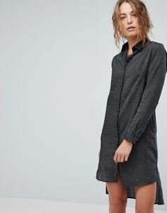 Bolongaro Trevor Stripe Shirt Dress - Black