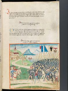 Bern, Burgerbibliothek, Mss.h.h.I.1, f. 285 – Diebold Schilling, Amtliche Berner Chronik, vol. 1