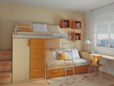yellow small bedroom design ideas The use of some furniture for Small Bedroom Design Ideas
