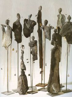Yolande Biver - ajouts tissus, fils, cordelettes