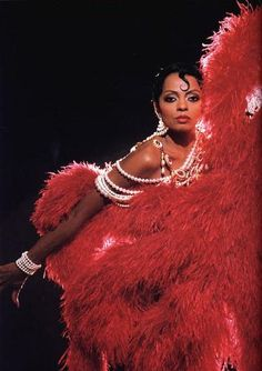 diana channeling josephine baker. #red