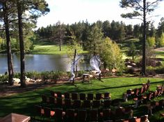 Ceremony set-up @ Pine Canyon Golf Club in Flagstaff, Arizona (on a windy day) September 28, 2013..