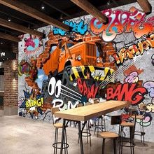 Online Shop Custom Wall Mural Embossed Brick Wallpaper Graffiti Art Cafe Bar Dining Room Wallpaper For Walls 3 D Papel Pintado Pared Brick Wallpaper Graffiti, Brick Wall Wallpaper, Dining Room Wallpaper, Photo Wallpaper, 3d Wallpaper, Graffiti Cartoons, Graffiti Wall Art, Street Graffiti, Graffiti Bedroom