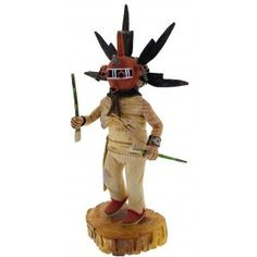 Hopi Warrior Mudhead Kachina Doll Alexander Youvella Sr. KX40143