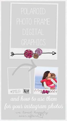 Free Polaroid overlay graphics for Instagram! Adorable!