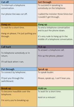 Important telephone phrasal verbs you need to know - learn English,communication,vocabulary,english
