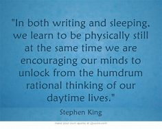 In both writing and sleeping. . .