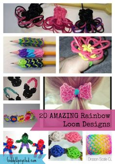 20 Amazing Rainbow Loom Designs