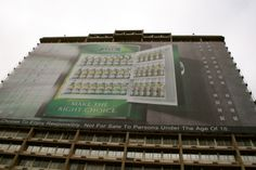 Building wrap installed by Scaff-Tech, Johannesburg. www.scafftech.co.za Wraps, Tech, Building, How To Make, Buildings, Technology, Rolls, Construction, Rap