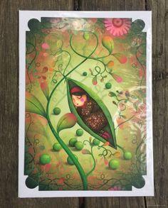 Hübsche Postkarte mit passendem Umschlag von La Marelle