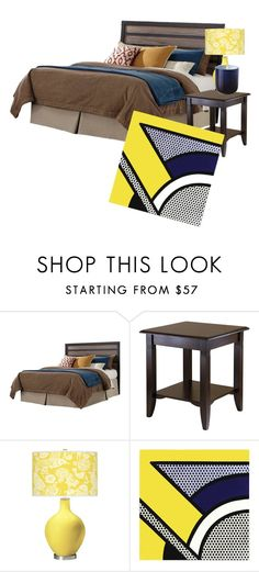 """""""bed"""" by coranicandy on Polyvore featuring interior, interiors, interior design, home, home decor, interior decorating, Signature Design by Ashley, Winsome and Jonathan Adler"""
