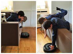 Schnell und klug: Der Roomba dreht den Staub tanzend weg!