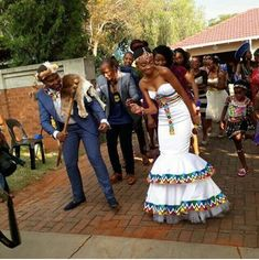 South African Wedding 01 – South African Wedding Tagged at muzzikuminfo. South African Wedding Dress, African Traditional Wedding Dress, African Wedding Attire, Traditional Wedding Attire, South African Weddings, African Attire, African Wear, African Women, Traditional Outfits