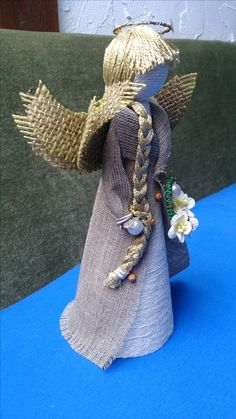 Montages, Xmas Ideas, Christmas Angels, Decoration, Recycling, Angeles, Crafts, Fabric Crafts, Jute