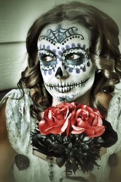 Day of the Dead Bride - halloween  Make up by Lacey Utter