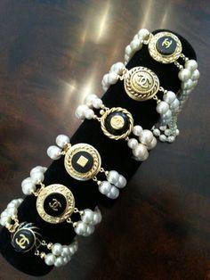 Chanel Button Jewelry Etsy ArmCandyDesignZ contact zumphlette@aol. com custom DesignsbyZ Poshmark.com