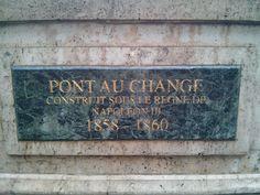 Pont au Change, Paris, France Paris France, Change, Words, Artwork, Home Decor, Homemade Home Decor, Work Of Art, Decoration Home, Interior Decorating