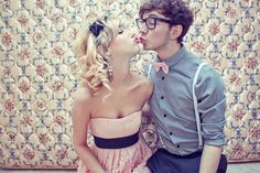 nerds do fall in love <3 #couples #kiss #love #cute