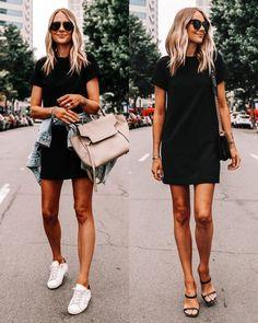Ενα στενό φόρεμα έχουμε όλες μας στην ντουλάπα μας. Αν λοιπόν έχεις βαρεθεί να το φοράς μόνο με έναν τρόπο, θα σου πω πώς να το φορέσεις διαφορετικά και να ανανεώσεις το στυλ σου! Black Dress Outfits, Summer Outfits, Summer Dresses, Work Dresses, Spring Dresses Casual, Midi Dresses, Dressy Outfits, Girly Outfits, Summer Clothes