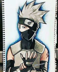 I give credit for who ever made this it turned out awsome! Kakashi Drawing, Naruto Sketch Drawing, Naruto Drawings, Anime Sketch, Drawing Art, Naruto Kakashi, Anime Naruto, Naruto Art, Naruto Tumblr