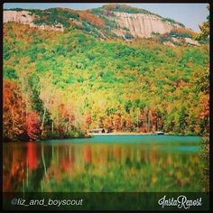 Table Rock State Park in fall