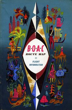 Route map & flight plan cover 1962