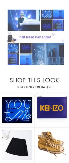 """you must come back home"" by luhansolo ❤ liked on Polyvore featuring Oliver Gal Artist Co., Sandro, Kenzo, Converse, kpop, fashionset and bts"