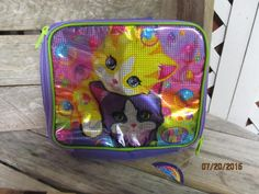 Vintage Lisa Frank New with Tag Insulated Cooler Bag - Kittens Cats Hologram Mint Perfect by EvenTheKitchenSinkOH on Etsy
