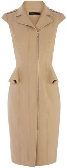 Tough Tailoring Peplum Biker Dress - KAREN MILLEN