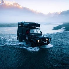 Exploring every inch possible in Fiordland National Park. Photo by 4x4, Land Rover Defender 110, Landrover Defender, Adventure Car, Beach Cars, Terrain Vehicle, Earth Photos, Camping Photography, Jeep Cars